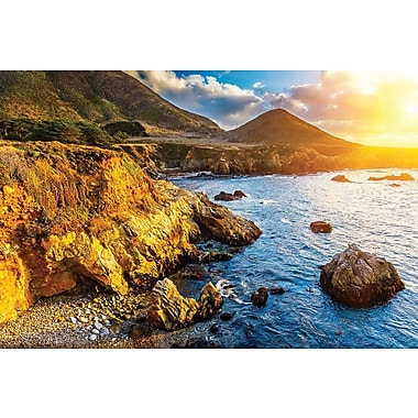 Affiche coucher de soleil sur le Pacifique à Big Sur, Californie, 36 x 24 po