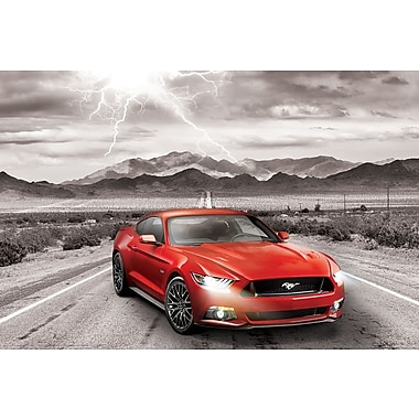 Affiche voiture classique Ford Mustang 2015, 36 x 24 po