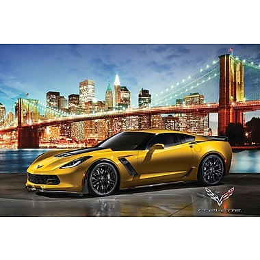 Affiche Corvette Z06 à New York, 36 x 24 po