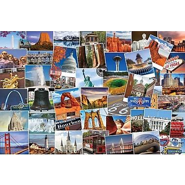 Collection Globetrotter : Affiche États-Unis, 36 x 24 po
