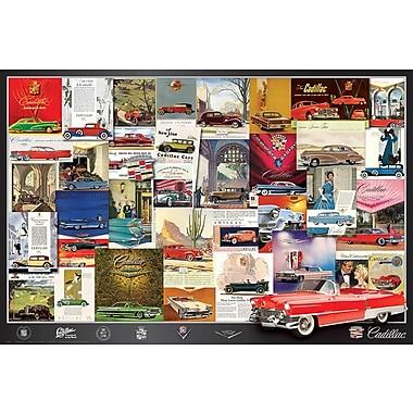 Affiche anciennes publicités Cadillac, 36 x 24 po