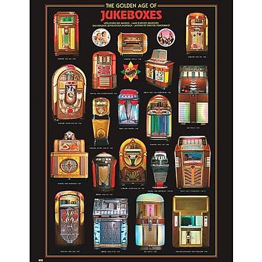 Affiche juke-box, 15 3/4 x 19 3/4 po
