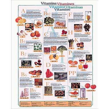 Affiche vitamines, 15 3/4 x 19 3/4 po