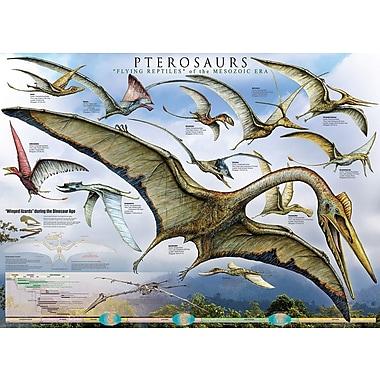 Affiche Ptérosaures, les reptiles volants, 24 x 36 po