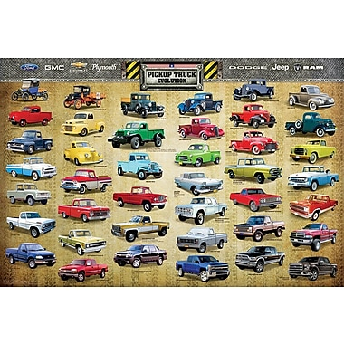 Affiche évolution des camionnettes, 36 x 24 po