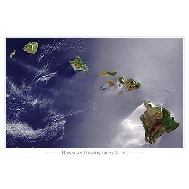 Affiche archipel d'Hawaï, 24 x 36 po