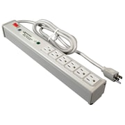 Wiremold® Sentrex® 6-Outlet High Performance Surge Protector with Light On/Off Switch, 15'