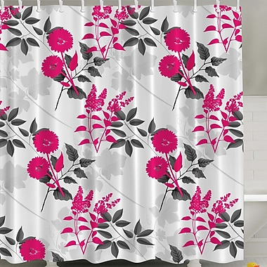 Ambesonne Flower Print Shower Curtain; Pink