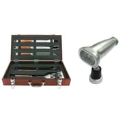 Mr. Bar-B-Q 6-Piece Tool and Light Set