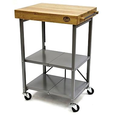 Bradley Smoker Kitchen Cart w/ Wood Top