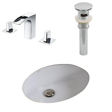 American Imaginations Oval Undermount Bathroom Sink w/ Overflow
