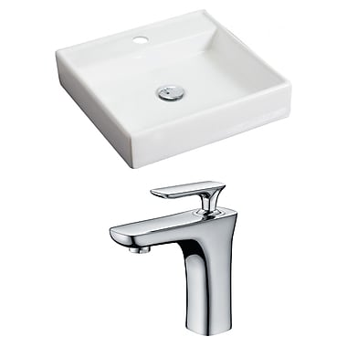 American Imaginations 18'' Wall Mount Bathroom Sink