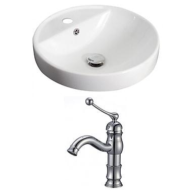 American Imaginations Circular Vessel Bathroom Sink w/ Overflow