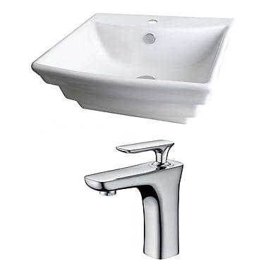 American Imaginations 20''Wall Mounted Bathroom Sink w/ Overflow