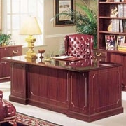 High Point Furniture Bedford Double Executive Desk; Mahogany