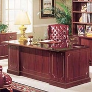 High Point Furniture Bedford Executive Desk w/ Double Pedestal; Mahogany