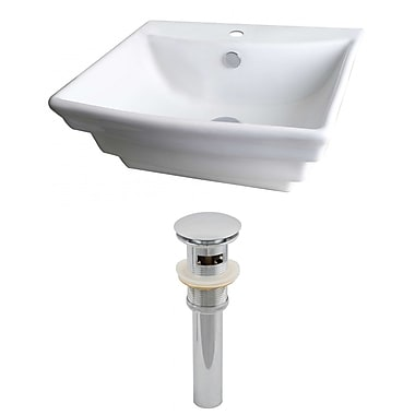 American Imaginations 20''Wall Mounted Bathroom Sink w/ Overflow