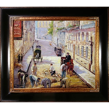 Tori Home Rue Mosnier w/ Road Menders by Edouard Manet Framed Painting Print on Wrapped Canvas