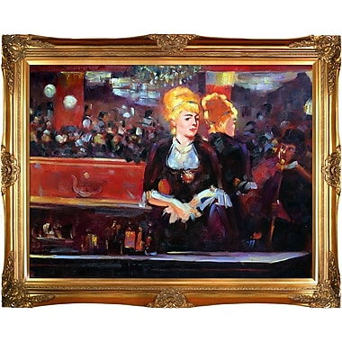 Study for a Bar at the Folies Bergere by Edouard Manet Framed Painting Print on Wrapped Canvas