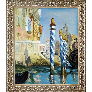 Tori Home The Grand Canal, Venice by Edouard Manet Framed Oil Painting Print on Wrapped Canvas