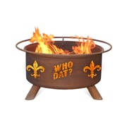 Patina Products Who Dat Steel Wood Burning Fire pit