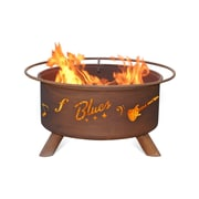 Patina Products Music City Steel Wood Burning Fire pit