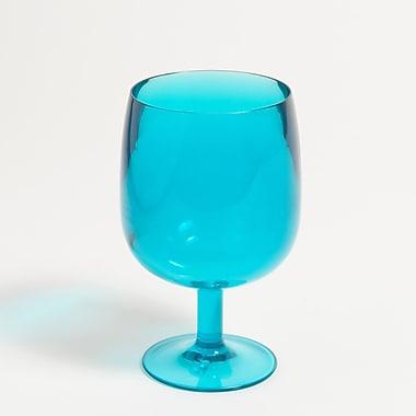Galleyware Company Stacking Wine Glass (Set of 4); Aqua Blue