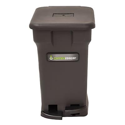 CompoKeeper Odor-Free Compost Bin for Food Scraps, Black