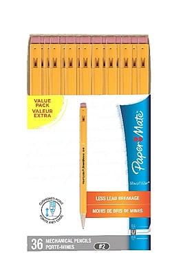 Paper Mate No. 2 Mechanical Pencils, 0.7 mm, 36/Pack (1921221)