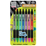 Zebra Z-Grip Neon Retractable Ball Point Pens, Medium Point, Assorted, 7/Pack (22907)
