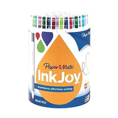 Paper Mate InkJoy Quatro Ballpoint Pens, Medium Point, Assorted, 36/Pack (1874688)