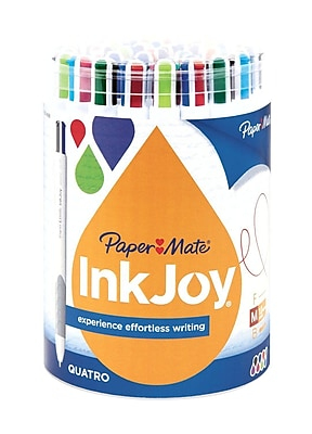 Paper Mate InkJoy Quatro Ballpoint Pens, Medium Point, Assorted, 36/Pack (1874688)