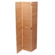 Household Essentials Bamboo Screen, Basket Weave (2176-1)