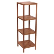 Household Essentials Bamboo 4-Shelf Cube Tower Slatted (2180-1)