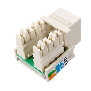 Digiwave – Insertion de prise modulaire RJ45, 4 x 10 x 8 po, blanc