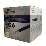 TygerWire RG6521000BO 1000 ft. Black RG6 Coaxial Cable for Outdoor, Black