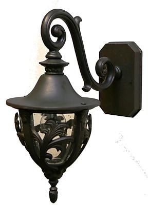 Melissa Tuscany 1-Light Outdoor Wall Lantern; Old Bronze