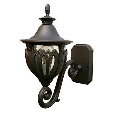Melissa Tuscany 1-Light Outdoor Sconce; Black