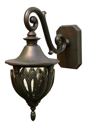Melissa Tuscany 1-Light Outdoor Wall Lantern; Rusty Nail