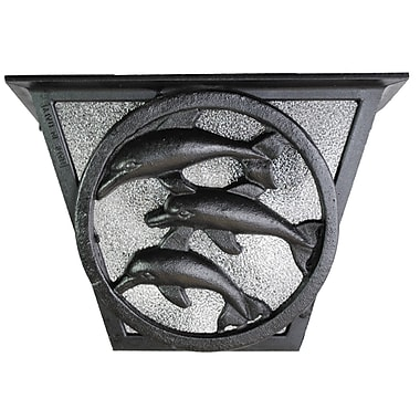 Melissa Americana 2-Light Flush Mount; Black