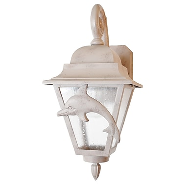 Melissa Americana 1-Light Outdoor Wall Lantern; Rusty Nail