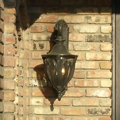 Melissa Tuscany 3-Light Outdoor Wall Lantern; Rusty Nail