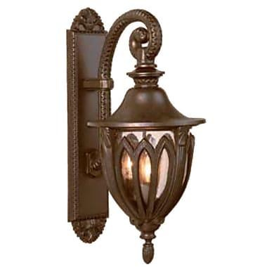 Melissa Tuscany 4-Light Outdoor Wall Lantern; Aged Silver