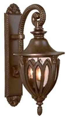 Melissa Tuscany 4-Light Outdoor Wall Lantern; Rusty Nail