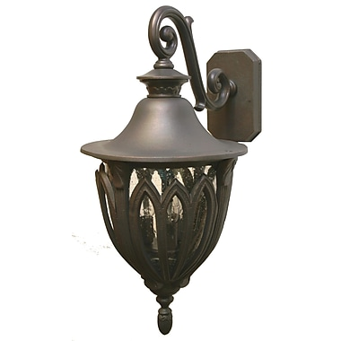 Melissa Tuscany 3-Light Outdoor Wall Lantern; Rusty Nail