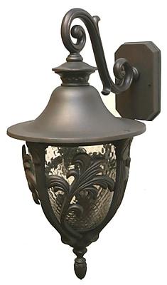 Melissa Tuscany 3-Light Outdoor Wall Lantern; White