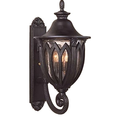 Melissa Tuscany 4-Light Outdoor Sconce; Aged Silver