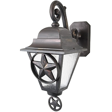 Melissa Americana 1-Light Outdoor Wall Lantern; Rusty Nail