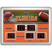 Team Sports America NCAA ScoreBoard Wall Clock w/ Thermometer; Alabama