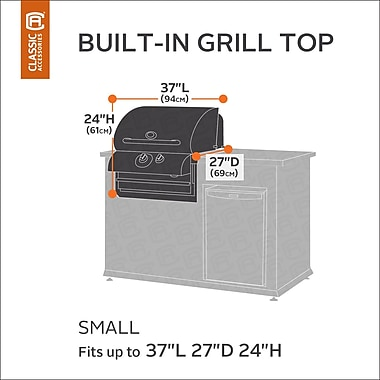 Classic Accessories Ravenna Built-In Grill Cover; Small